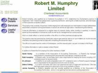 Robert M Humphry Ltd Okehampton Accountants